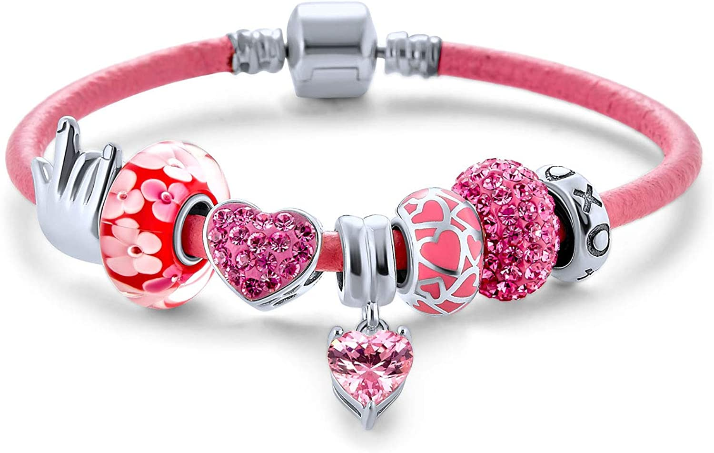 I LOVE YOU Hand Sign Large-scale sale Heart Princess Themed Multi Charm Sale Beads Bra