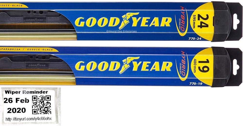 Hybrid - Be super welcome Windshield Max 44% OFF Wiper Blade Set 2012-2018 Vol for Bundle Kit