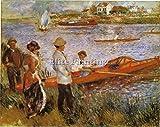Elite-Paintings RAMEURS A CHATOU 1879 by Manet Artiste Tableau Reproduction Huile Toile Peinture 100x120cm QUALITÉ MUSÉE