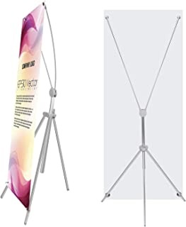 TheDisplayDeal Adjustable Aluminum Banner Stand Fits Any Banner Size from 24