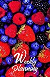 Strawberry 6x9 Inches Weekly Planner by Lee, 156 Pages, Dot Grid Book (English Edition)