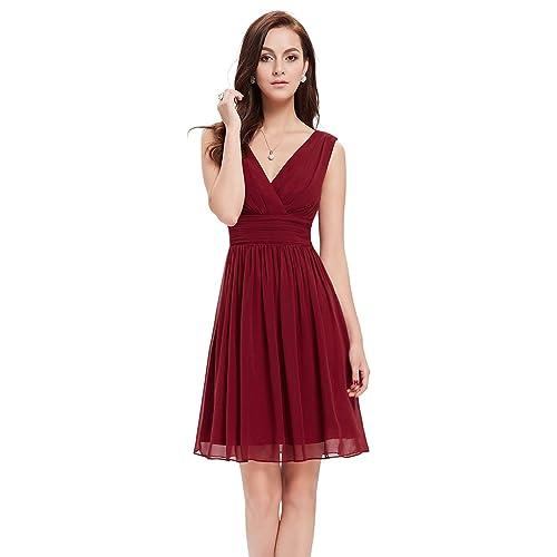 Abendkleider Kurz Rot: Amazon.de