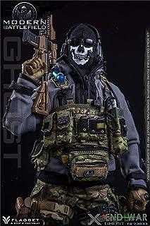 R・DOLL 1/6 フィギュア 素体 用 男性 ヘッド 手型 ハンド 武器 装備 道具 セット 戦争 軍人 特殊 部隊 アーミー フルセット ハンサム かっこいい 成熟 冷酷 FLAGSET