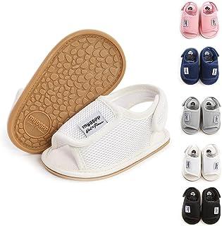 Bellocasa Infant Baby Boys Girls Sandals Summer Beach PU Leather Soft Rubber Sole First Walker Newborn Crib Outdoor Dress ...