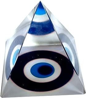 PRIME Vastu Feng Shui Evil Eye Crystal Pyramid for Positive Energy and Vastu Correction