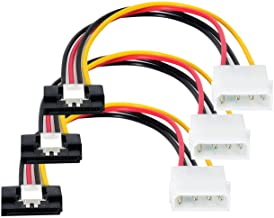 SATA to Molex Adapter 3 Pack 4Pin Molex to SATA Power Cable SATA 15 Pin Female to Molex 4 Pin Male Power Cable Adapter 8-inch