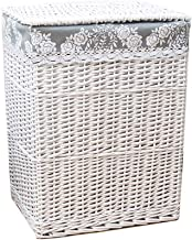 YAYADU Storage Basket Rattan Store Baskets Finishing Box Cotton Lining Toy Books Clothes Pillow Crafts Potted Plant Home H...
