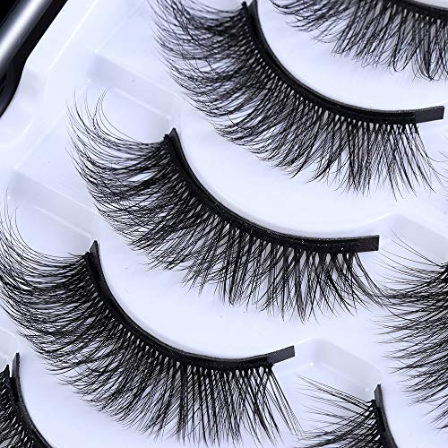 UNICK Hot Sale Long-lasting Waterproof Handmade Natural Long With Tweezer Magnetic Eyeliner Lash Extension Magnetic Eyelashes(Y-25) 7