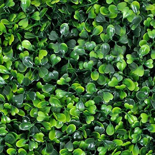 ULAND 12Pezzi/Cartone 50 x 50 cm , Pannelli Per Siepi Di Bosso Per Arte Topiaria Artificiale,Sfondo Di Copertura Di Recinzione a Muro Verde Erba,Bosso Di Primavera