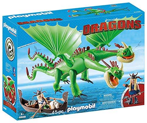 PLAYMOBIL DreamWorks Dragons Dragón 2 Cabezas con Chusco y Brusca, A partir de 4 Años (9458) , color/modelo surtido