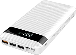 Promate USB-C Qi Power Bank, Qi-Certified 10W Fast Wireless 20000mAh Battery Charger with 18W Two-Way Type-C Power Deliver...