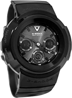 Casio G-Shock Black Dial Black Resin Multi Quartz Men's Watch AWGM510BB-1A