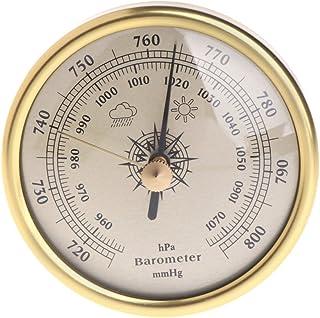 haia7k4k Baromètre à suspendre au mur - 72 mm - 1070 hPa - Cadran rond - Station météo