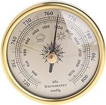 BASSK 72 mm, barómetro 1070hPa dorado, esfera redonda, estación meteorológica