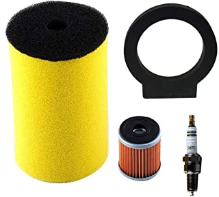 Podoy 1YW-14451-00-00 Air Oil Filter for Yamaha Timberwolf 250 Big Bear 350 Moto-4 250 350 Kodiak 400 Big Bear 350 Big Bear 4x4 1987-1999 with Spark Plug