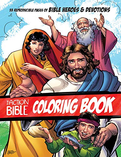 The Action Bible Coloring Book: 55 Reproducible Pages of Bible Heroes and Devotions (Action Bible...