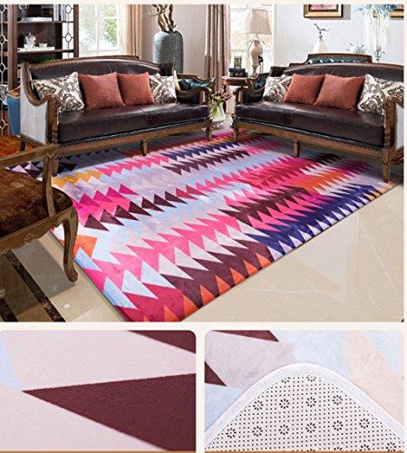 SISI Moderner Abstrakter Teppich - Wohnzimmer Sofa Large Carpet Bedroom Bedside Blanket Carpet-9.2 (Color : C, Size : 1 * 1.5m)
