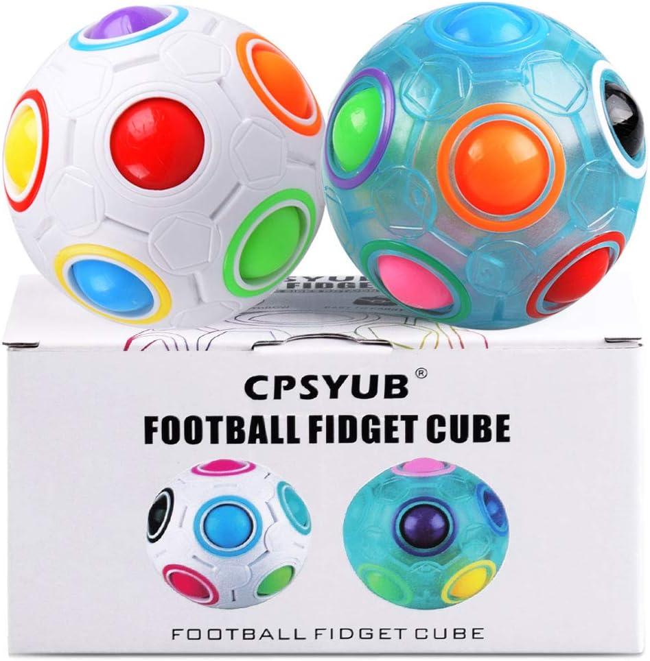 Fidget Ball Rainbow Magic Puzzle Cube Fidget Toy Stress Relief Autism Gifts Toys