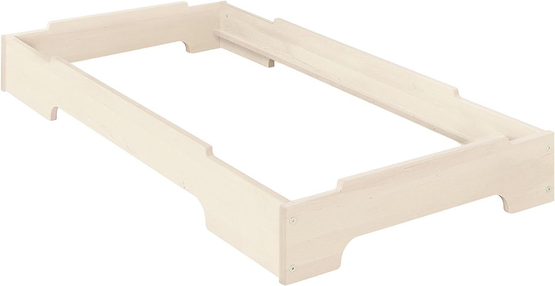 BioKinder Kai Stapelbett Stapelliege Kinderbett aus Massivholz Kiefer 70 x 140 cm wei lasiert