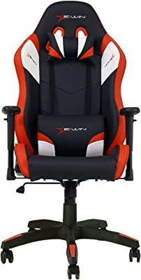 E-WIN Gaming Chair Ergonomic High Back PU Leather Racing Style with Adjustable Armrest and