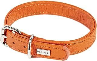 HelloJello Handmade Genuine Leather Pet Collar - Colorful Stylish Handmade Genuine Leather Dog Collar