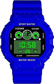 XBKPLO Digital Watches Unisex - Quartz Date Sport Three Eyes Analog Vintage Waterproof Digital LED Backlight Wrist Silicone Sport Watch