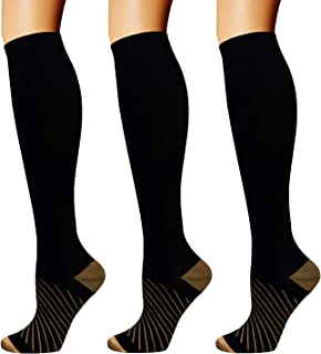 Copper Compression Socks For Men & Women(3/5 Pairs)- Best...