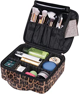 OXYTRA Makeup Bag Zebra Print PU Leather Travel Cosmetic Bag for Women Girls - Cute Large Makeup Case Cosmetic Train Case ...