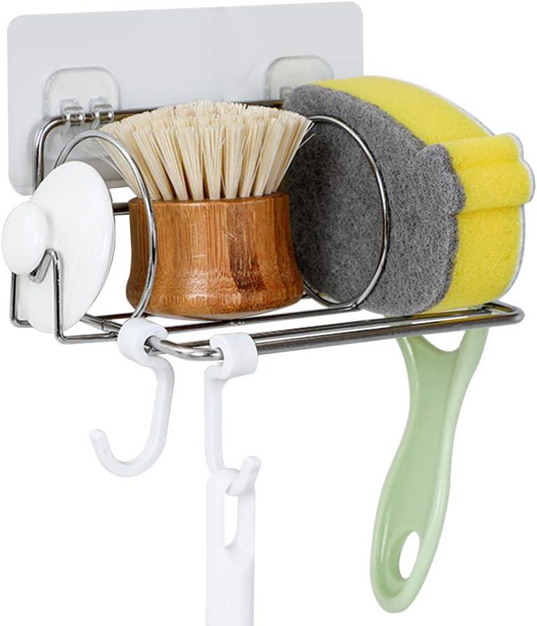 Sponge Holder with 2021 spring and summer new Hooks - Sink Basket Rack Soap Brush Product