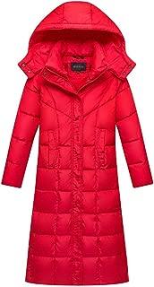 Gihuo Women's Hooded Maxi Down Coat Long Puffer Jacket