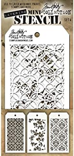 stampers Anonymous Tim holtz Mini # 4 طبقات Stencil