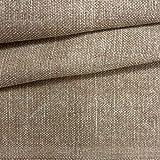 Kt KILOtela Tela de tapicería Lisa - Panamá algodón - Acabado Desgastado, Envejecido - Retal de 100 cm Largo x 140 cm Alto | Marrón ─ 1 Metro