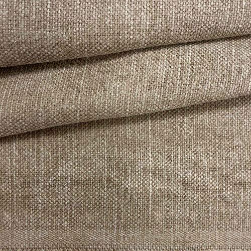 Kt KILOtela Tela de tapicería Lisa - Panamá algodón - Acabado Desgastado, Envejecido - Retal de 100 cm Largo x 140 cm Alto   Marrón ─ 1 Metro