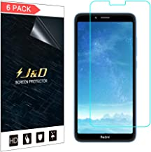 J&D Compatible for 6-Pack Redmi 7A Screen Protector, [Not Full Coverage] Premium HD Clear Film Shield Screen Protector for Xiaomi Redmi 7A Crystal Clear Screen Protector