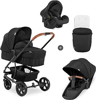 Hauck Pacific 4 Shop N Drive, lätt barnvagnspaket upp till 25kg med bilbarnstol för grupp 0, liggdel som kan bli vändbar ...