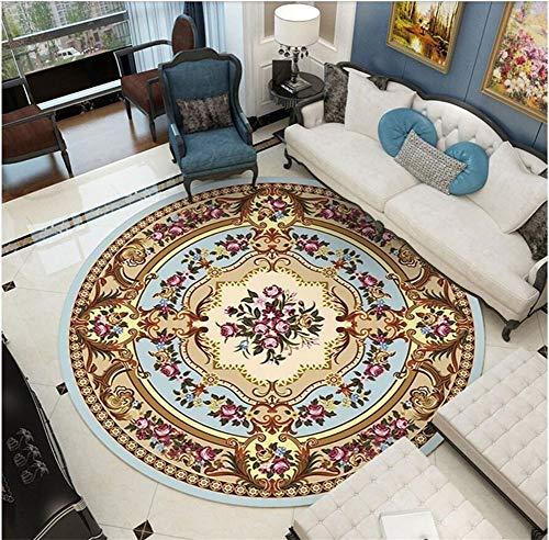 WJY Tapis Rond Coiffeuse Chambre Salon Vestiaire Moquette Table D'ordinateur Suspendu Coussin De Chaise (Color : O-66, Size : 200CM.)
