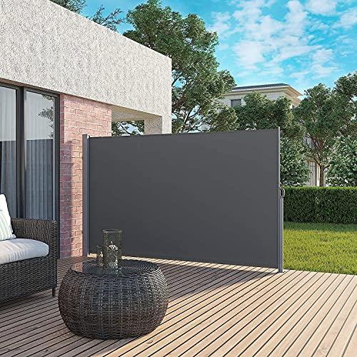 ANYURAN Toldo Lateral retráctil, Malla de Patio a Prueba de Rayos UV, Divisor de habitación Impermeable, Cerca de privacidad, Parasol Plegable para jardín, terraza