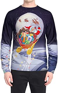 Men's Crewneck Sweatshirt 3D Print Fashion Tops Unisex Pullovers