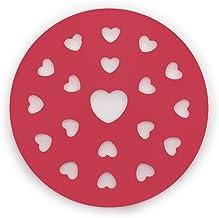 Fox Run 4778 Heart Pie Top Cutter, Plastic, Red