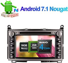 Flynavigo Android 7.1 Car Audio Stereo Quad Core Double Din CD DVD Player with Bluetooth GPS Navigation 7 Inch Touch Screen for TOYOTA Venza 2008- Support WIFI,FM AM, USB SD,Mirror Link,AUX Input