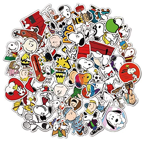 JINER Don't Repeat Snoopy Notebook European and American Travel Graffiti Waterproof Luggage Stickers 50