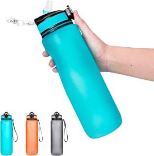 32oz Water Bottle - Motivational Water Bottles with Straw Leakproof Reusable Big Water Bottle for Fitness Gym Camping Outdoor Sports Workout