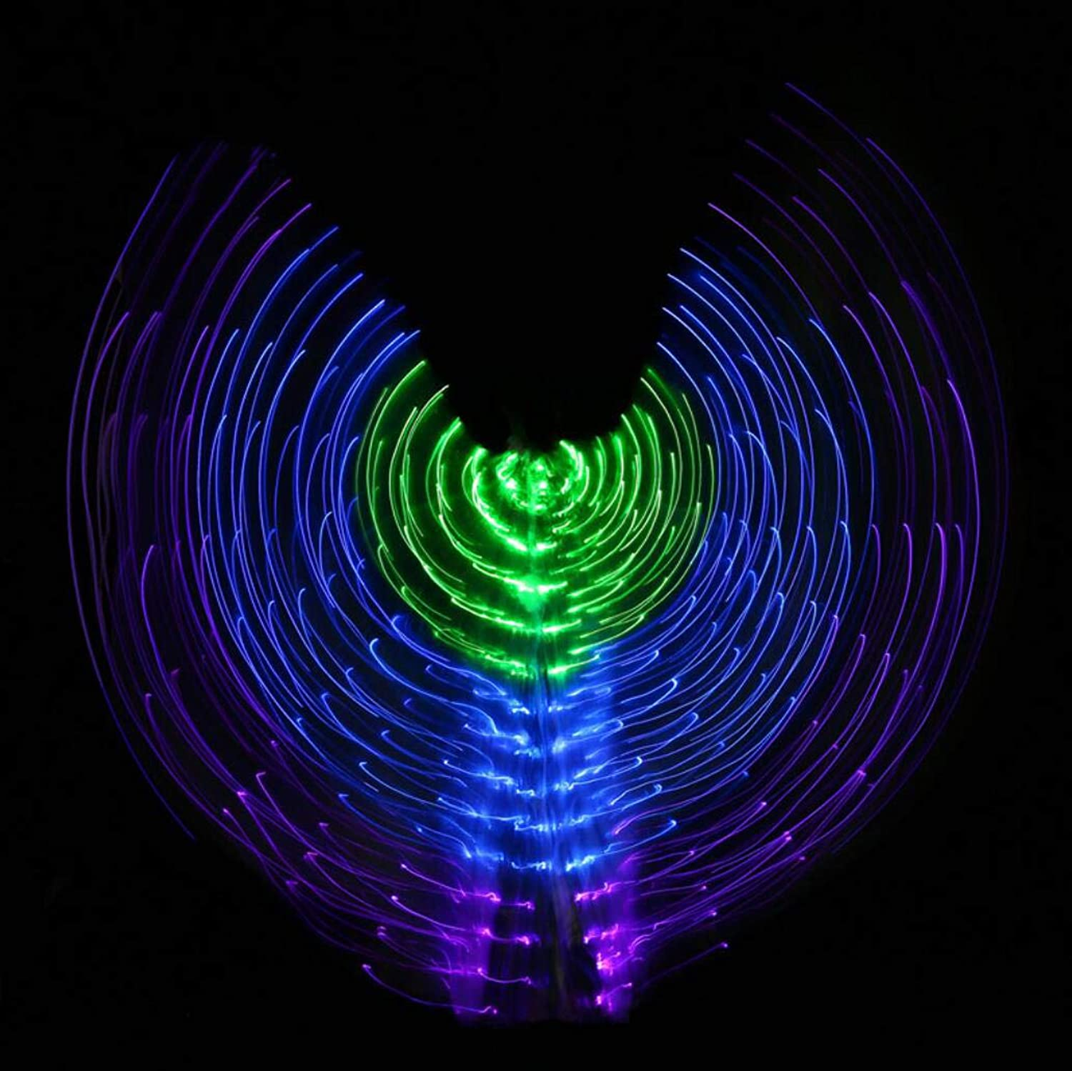 Dance Fairy Opening Belly Dance LED Isis Wings with Sticks RodsWings 300 LED Luminous Light Up Stage Performance Props Passed CE, FCC Certification