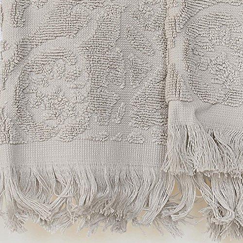 Blanc des Vosges Princesse Serviette de Bain, Coton, Perle, 30x50 cm