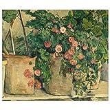 JUNIWORDS Poster, Paul Cézanne, Stillleben mit Petunien,