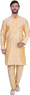 Maple Clothing Men's Art Silk Indian Kurta Set Wedding Wear Clothing