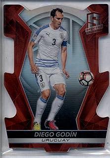 Diego Godin 2016-17 Spectra Soccer Red Die-Cut Prizm #69 #03/65 JERSEY #
