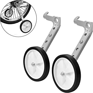 Little World Bicycle Training Wheels, Variable Speed Bike Training Wheels Bicycle Stabilizers Mounted Kit for Kids Bike of 18 20 22 Inch, 1 Pair