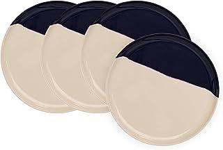 Sponsored Ad - Melamine Side Plates Set of 4, Salad Plates, Dessert Plates, Ivory/Navy – Thomas Fuchs Creative