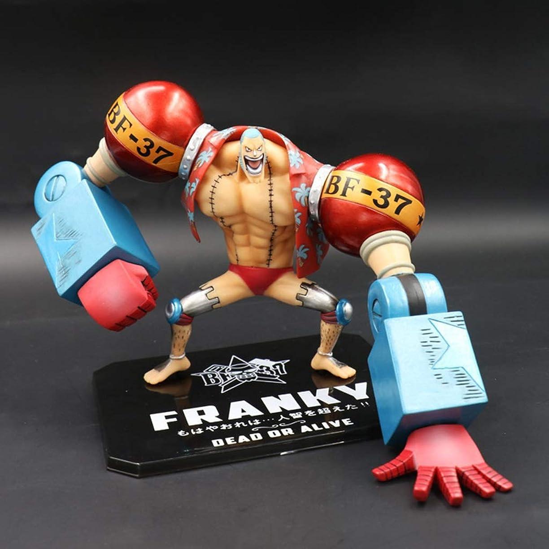 遺棄された悪党ふつうアニメワンピースモデル、FRANKY、玩具コレクション像、卓上装飾玩具像玩具モデルPVC(15cm) JSFQ